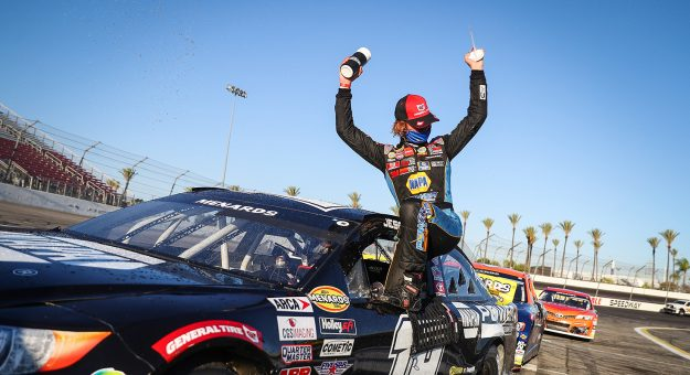 at the ENEOS 125 presented by NAPA Auto Parts as part of the ARCA Menards Series West held at Irwindale Speedway in Irwindale, Calif. on July 4, 2020.