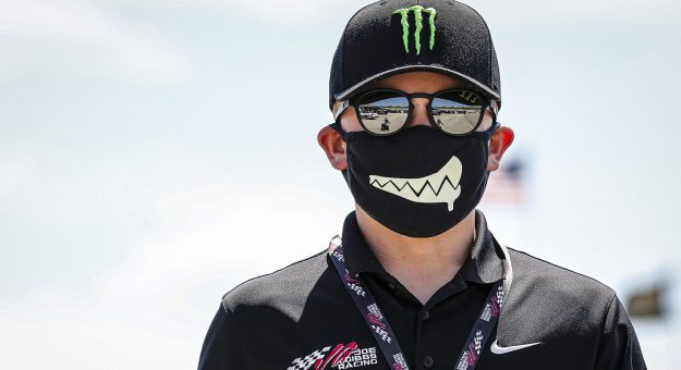 Ty Gibbs, driver of the #18 Monster Energy-Terrible Herbst-ORCA Toyota during the Shore Lunch 150 for the ARCA Racing Series presented by Menards at Iowa Speedway on Saturday, July 18, 2020. (Barry Cantrell/ARCA Racing)
