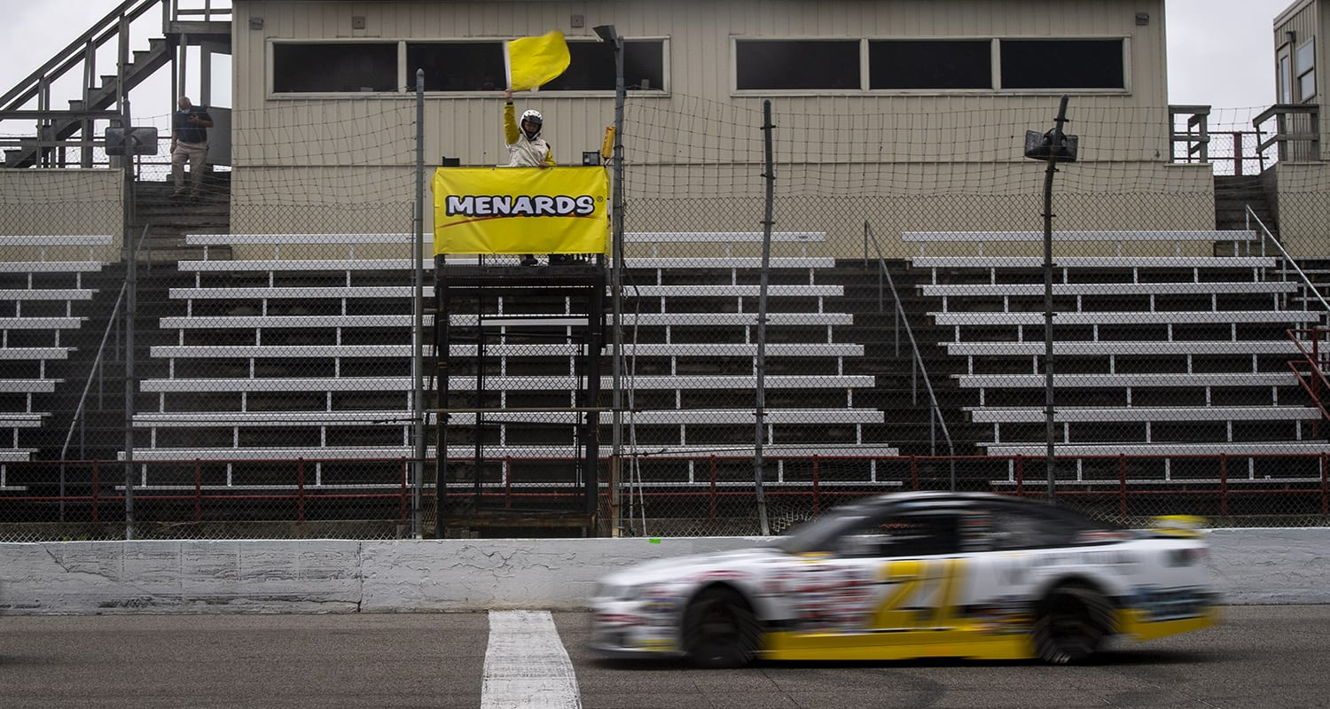 Sam Mayer, driver of the #21 Chevy Accessories Chevrolet, races in the Menards 200 presented by Crosley Brands for the ARCA Menards Series on August 2, 2020 at at Toledo Speedway in Toledo, Ohio. (Nic Antaya/ARCA Racing)