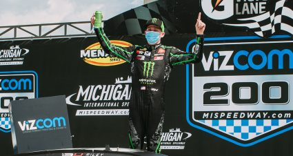 Riley Herbst Doesn't Settle For Second At Michigan International Speedway