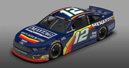 Team Penske unveils Menard-inspired No. 12 throwback paint scheme for Darlington
