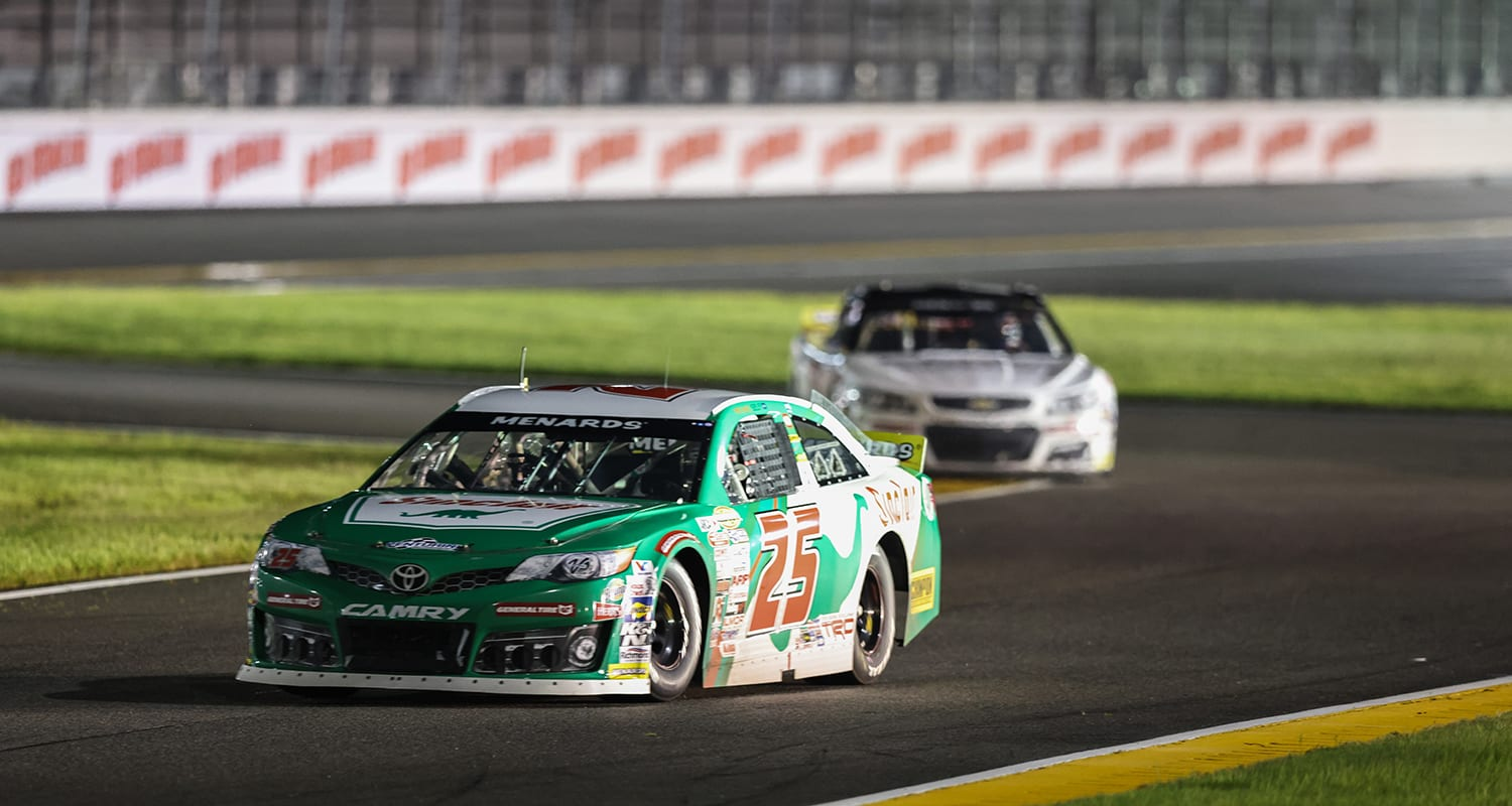 Michael Self driver of the #25 Sinclair Lubricants Toyota races during the ARCA Menards Series General Tire 100 at the Daytona International Speedway Road Course in Daytona Beach, Florida on August 14, 2020. (James Gilbert/ARCA Racing)