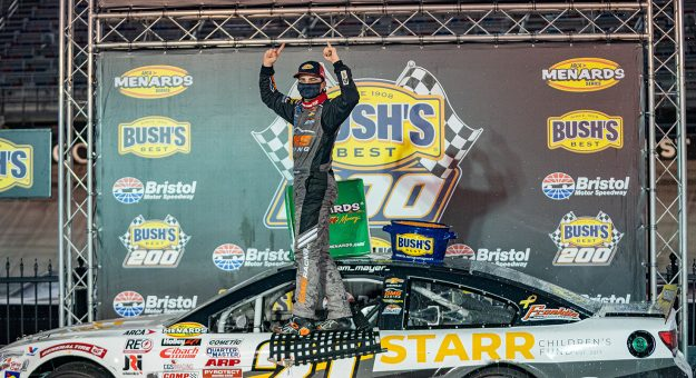 during the Bush's Beans 200 at Bristol Motor Speedway for the ARCA Menards Series in Bristol, Tennessee on September 17, 2020. (Jacob Kupferman/NASCAR)