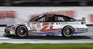Sam Mayer driver of the #21 Jim Kelly Foundation Chevrolet races during the ARCA Menards Series General Tire 100 at the Daytona International Speedway Road Course in Daytona Beach, Florida on August 14, 2020. (James Gilbert/ARCA Racing)