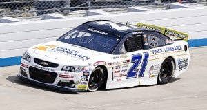 Sam Mayer, driver of the #21 Vince Lombardi Cancer Foundation Chevrolet, competes during the General Tire 125 for the ARCA Menards Series East at Dover International Speedway in Dover, Delaware on Friday, August 21, 2020. (Timothy Nwachukwu/NASCAR)
