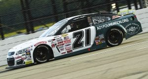 Sam Mayer, driver of the #21 Chevy Accessories Chevrolet, during the General Tire #AnywhereisPossible 200 for the ARCA Menards Series at Pocono Raceway in Long Pond, Pennsylvania on Friday, June 26, 2020. (Adam Glanzman/ARCA Racing)