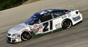 Sam Mayer, driver of the #21 Pat Connaughton With Us Foundation Chevrolet, drives during qualifying for the Zinsser SmartCoat 200 for the ARCA Menards Series at I-44 Speedway in Lebanon, Missouri on September 5, 2020. (Jeff Curry/ARCA Racing)
