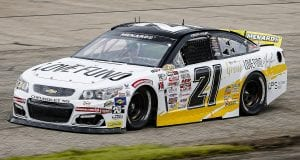 Sam Mayer, driver of the #21 Chevy Accessories Chevrolet during the Sioux Chief PowerPEX 200 for the ARCA Menards Series at Memphis International Raceway on Saturday, September 26, 2020. (Barry Cantrell/ARCA Racing)