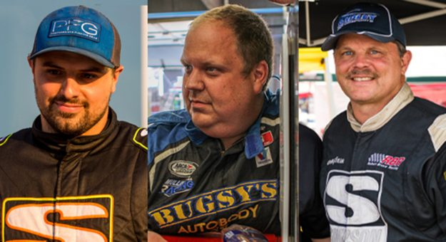From Left: Davey Callihan, Willie Mullins and Robert Bruce will test for Mullins Racing during the upcoming ARCA Menards Series preseason test at Daytona International Speedway on Jan. 15-16.