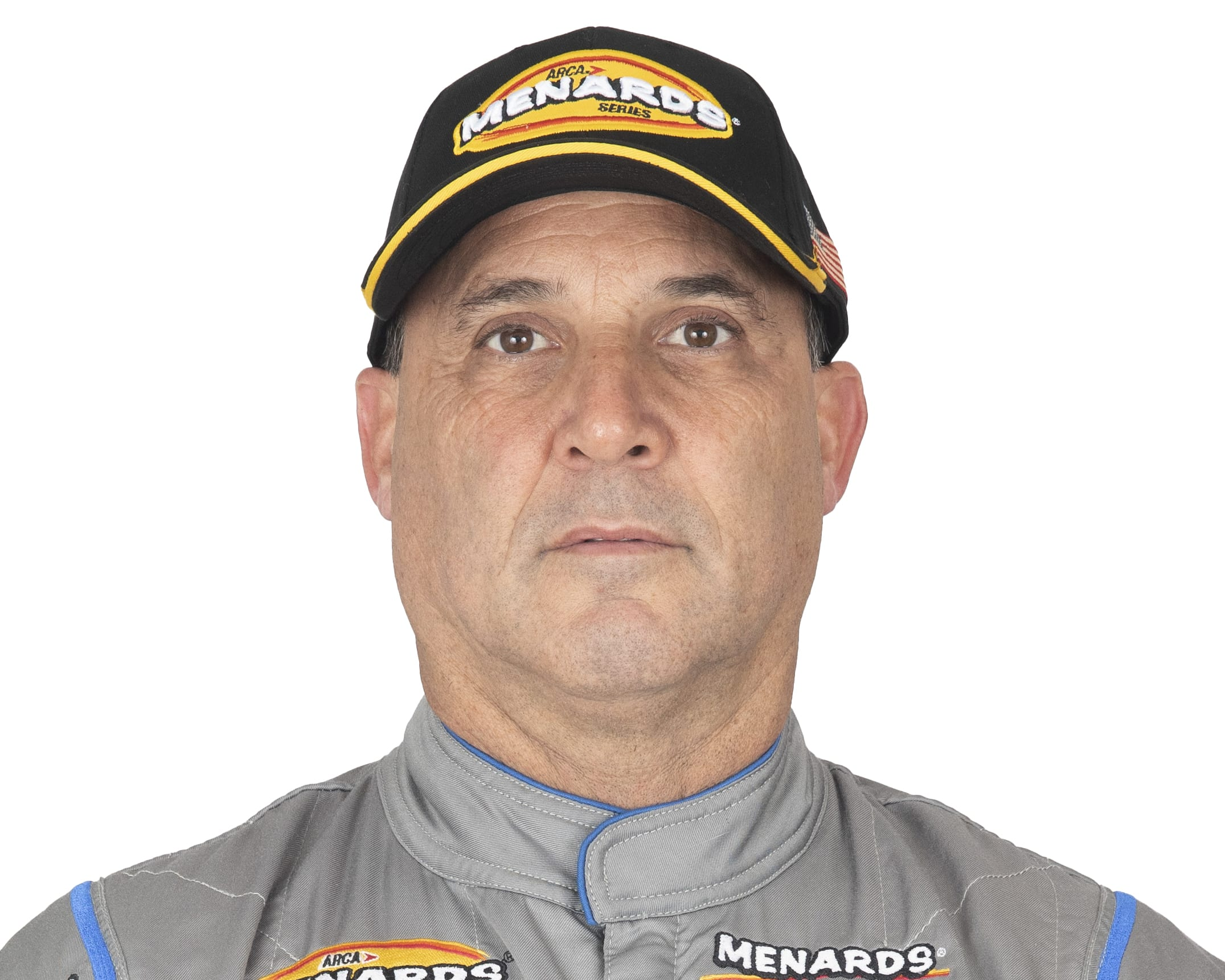 Todd Souza, driver of the #13 Central Coast Cabinets Ford, poses for a portrait before the General Tire 150 for the ARCA Menards Series and ARCA Menards Series West at Phoenix Raceway in Avondale, Arizona, on March 12, 2021. (Adam Glanzman/ARCA Racing)